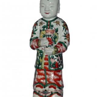Kangxi / Yongzheng Figure of a Standing Boy