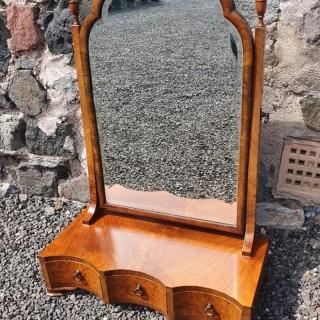 Queen Anne Style Walnut Dressing Mirror