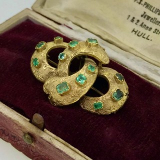 Victorian Gold and Peridot Brooch