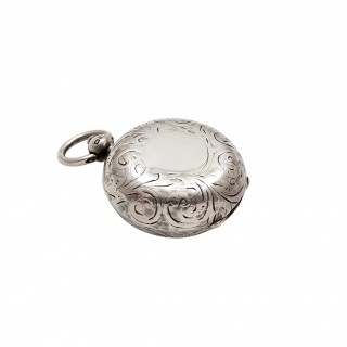 Antique Sterling Silver Sovereign Case 1912