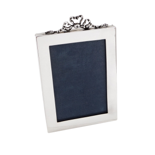 Antique Sterling Silver 'Bow/Ribbon' Photo Frame 1918
