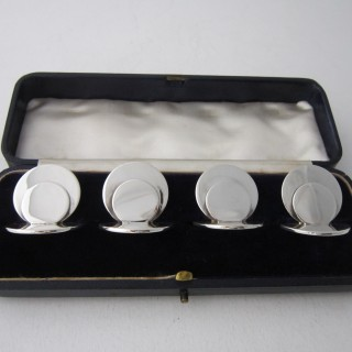 Chester Antique Sterling Silver Menu/Place Card Holders - 1905