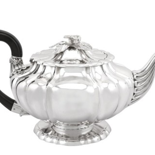 Sterling Silver Teapot by Paul Storr - Antique George IV (1827)
