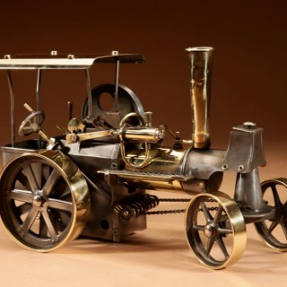 Live Early Model Of A Wilesco Steam Roller.
