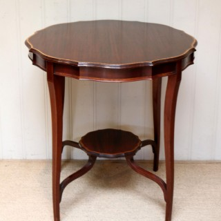 Inlaid Mahogany Circular Table