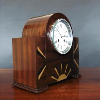 Art Deco Mahogany Mantel Clock