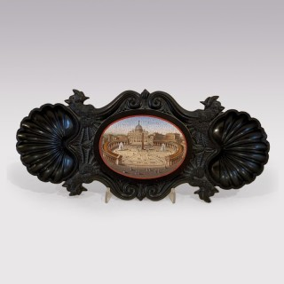 A  mid 19th Century Micro-mosaic Plaque