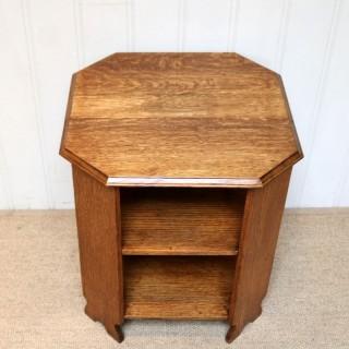 Low Oak Octagonal Table