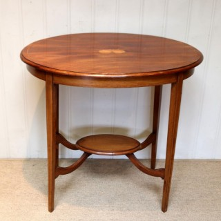 Oval Inlaid Occasional Mahogany Table