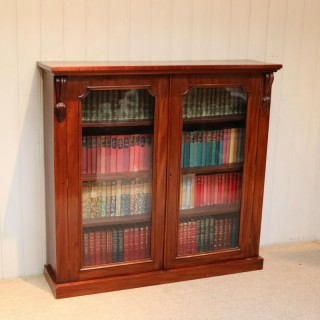 Late 19th Century Glazed Two Door Bookcase