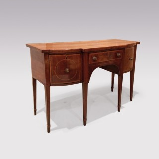 18th Century Sheraton period mahogany Breakfront bowfront Sideboard
