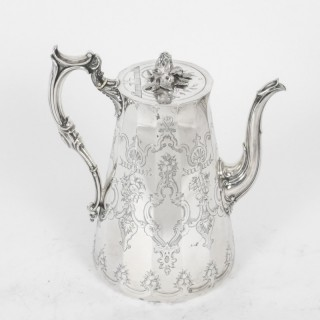 Antique Victorian Silver Plated Coffee Pot Elkington & Co Dated 1876
