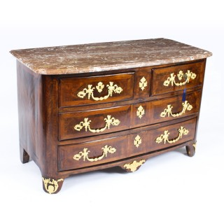 Antique French Régence King Wood Ormolu Mounted Commode Circa 1730 18th C