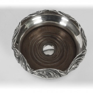 Antique Pair Victorian Silver plate Wine Coasters 19th C