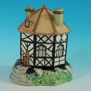 Staffordshire Pearlware Octagonal Cottage Pastille Burner