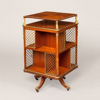 A French Revolving Library Bookcase