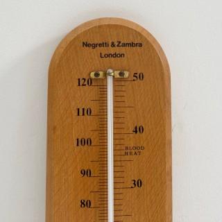 Large Twentieth Century Wall Thermometer by Negretti & Zambra London