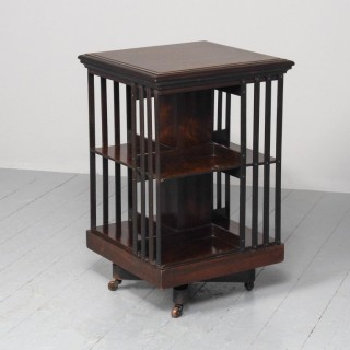 Victorian Rosewood Revolving Bookcase