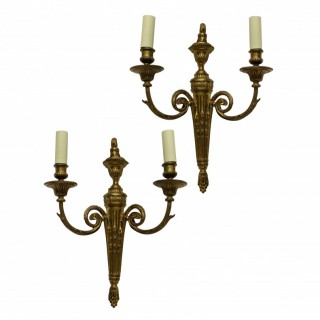 A PAIR OF LOUIS XVI STYLE WALL SCONCES