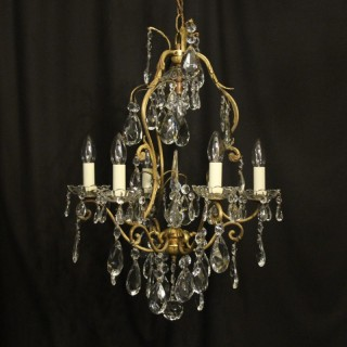French Gilded Birdcage Antique Chandelier