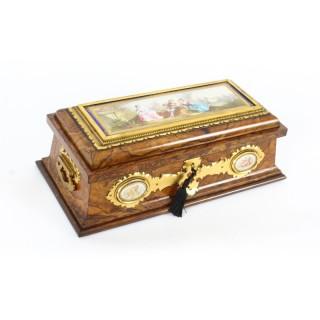 Antique Victorian Burr Walnut Ormolu Caskwet by Betjeman & Sons 19th C