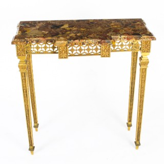 Antique French Empire Revival Ormolu Console Table C1890 19th C