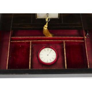 Antique Victorian Coromandel Lady's Vanity Case Circa 1870