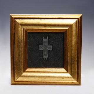 Byzantine Part Reliquary Cross with Mary Orans