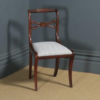 Antique English Georgian Regency Mahogany Rope Twist Dining Chair (Circa 1820)