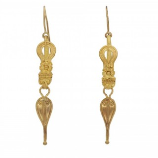 Ancient Roman earrings, 2nd century AD.