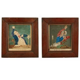 Pair of 19th Century Coloured Prints