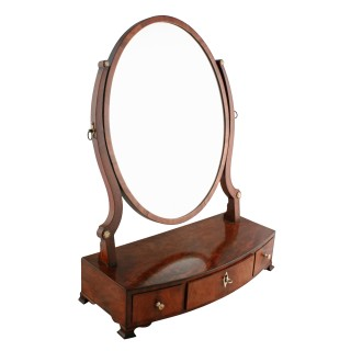 Georgian Bow Front Dressing Mirror