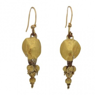 Ancient Greek Hellenistic earrings, circa 2nd century BC-1st century AD.