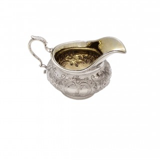 Antique Early Victorian Sterling Silver Jug 1837