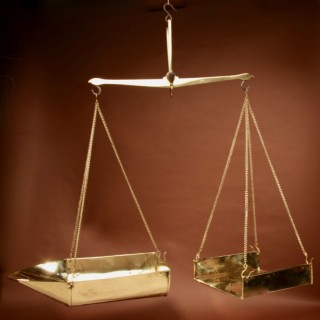 A Frisian Brass 10 Kilo  Free Hanging Balance Beam Scales.