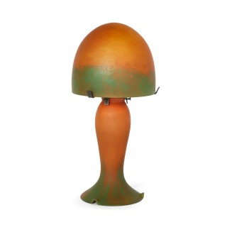 French Art Nouveau glass lamp attributed to Daum