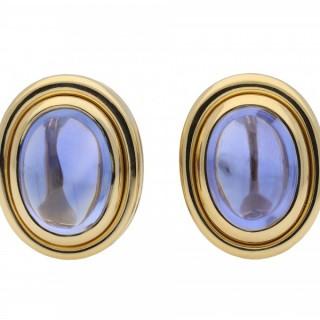 Bulgari Ceylon sapphire earrings, Italian, circa 1970.
