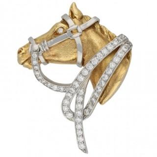Oscar Heyman Brothers diamond horse brooch, circa 1970.