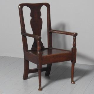 George II Oak Armchair