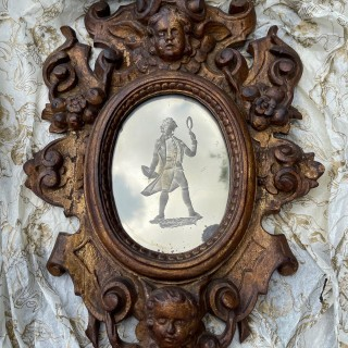 18c carved giltwood mirror
