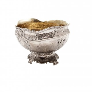 Antique Victorian Sterling Silver Bowl 1900