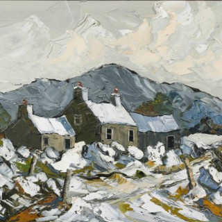 'Cottages, January Morning' by Martin Llewellyn (born 1963)