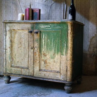 A Late 19thC Painted Pine Side Cupboard c.1890