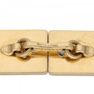 Vintage Tiffany & Co. sapphire Cufflinks, American, circa 1950.