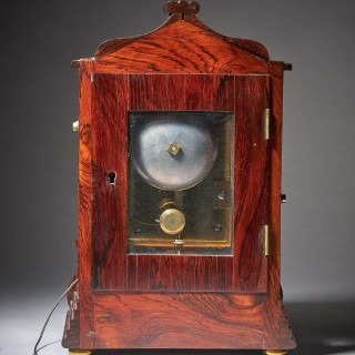 Striking George IV eight-day rosewood pagoda library clock by French, London