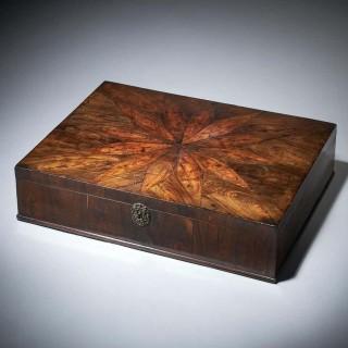 17th Century Charles II Cocuswood Lace Box, Circa 1660 England