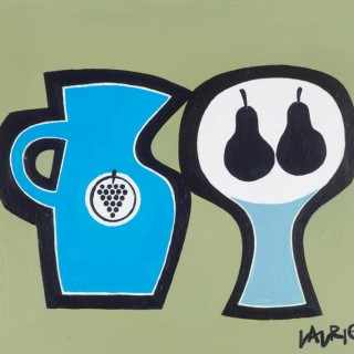 'Blue Jug and Pears' by Simon Laurie RSW RGI (born 1964)