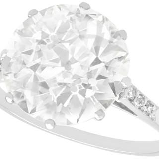 4.33ct Diamond and Platinum Solitaire Ring - Antique Circa 1915