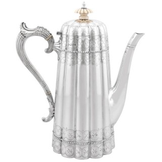 Sterling Silver Coffee Pot - Antique Victorian (1895)