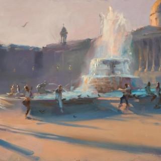 'Long Shadows, Trafalgar Square' by Rob Pointon ROI (born 1982)